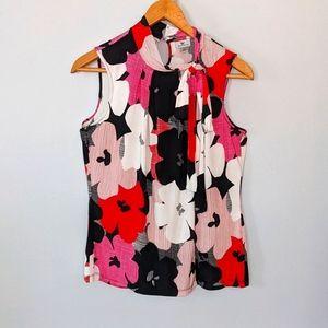 Worthington Sleeveless Floral Top Large